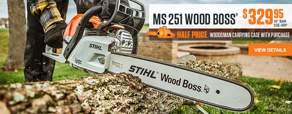 Half Price Woodsman Carrying Case with MS 251 Chainsaw purchase